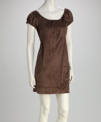 RD International Mocha Babydoll Dress