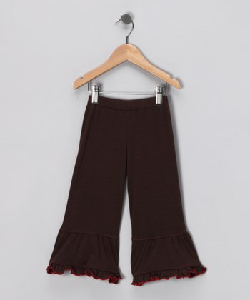 Chocolate Ruffle Pants - Toddler & Girls