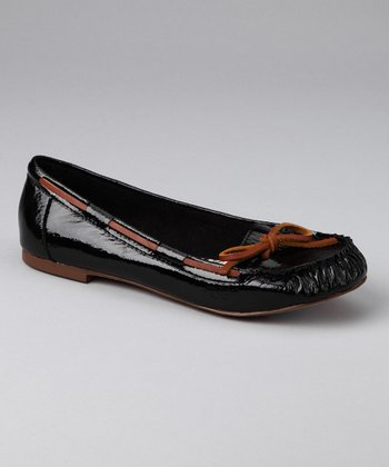 Black Patent Striker Moccasin
