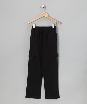 Black Fleece Cargo Pants - Toddler & Boys