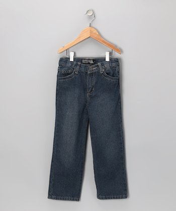 Blue Fashion Straight-Leg Jeans - Toddler