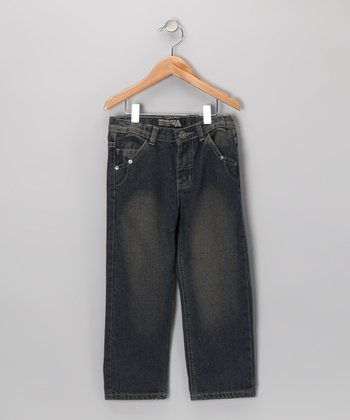 Vintage Blue Fashion Jeans - Toddler