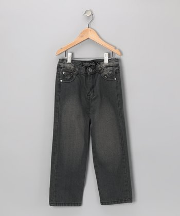 Gray Distressed Fashion Jeans - Toddler
