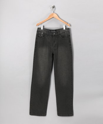 Gray Straight-Leg Fashion Jeans - Toddler