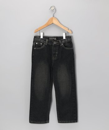 Charcoal Fashion Jeans - Toddler