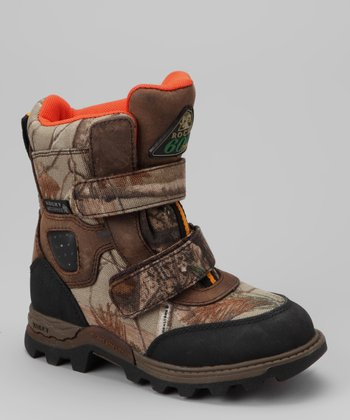 Brown Waterproof Mountain Stalker Leather All-Terrain Shoe - Kids
