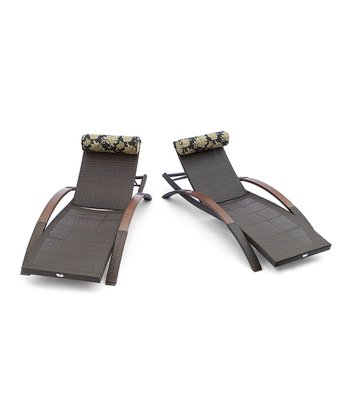 Espresso Delano Arc Lounger - Set of Two