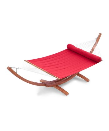 Jockey Red Wood Arc Hammock Set
