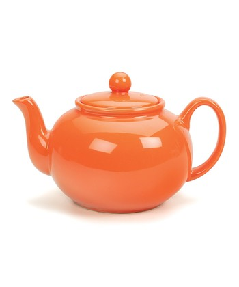 Orange Stoneware Teapot