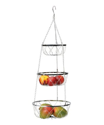 Fancy Chrome Hanging Fruit Basket