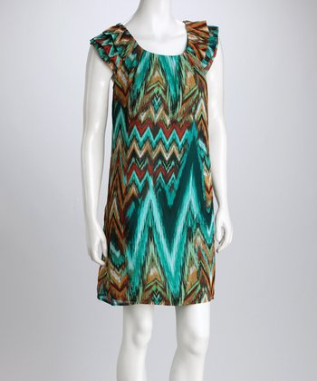 Jade & Blue Zigzag Shift Dress - Women