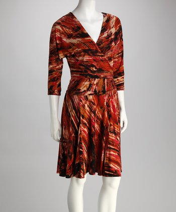Rust Swirl Dress