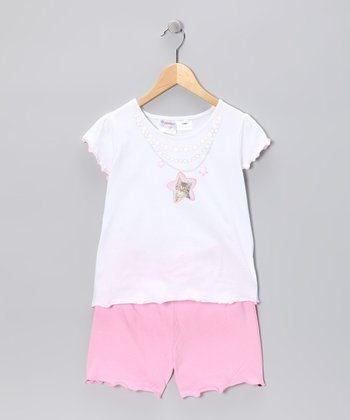 Pink Kitty Tee & Shorts - Toddler & Girls