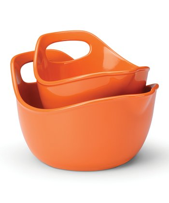 Orange Mixing Bowl Set