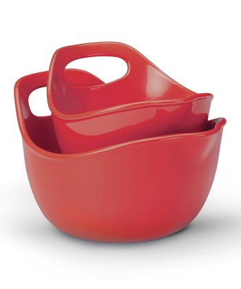 Red Mixing Bowl Set