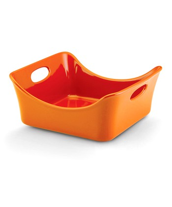 Orange Square Dish