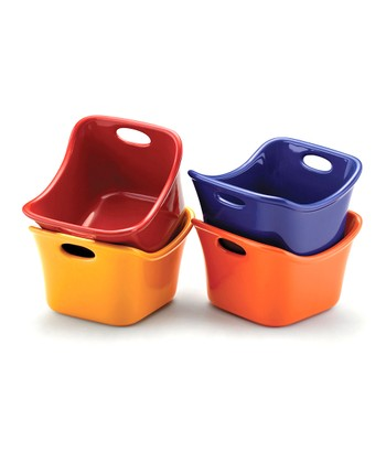 Bold Bubble & Brown Ramekin Set