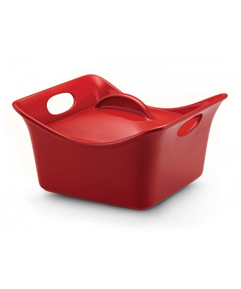 Red 3.5-Qt. Covered Square Dish
