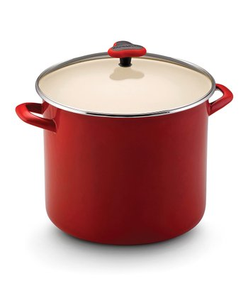 Red 12-Qt. Covered Stockpot