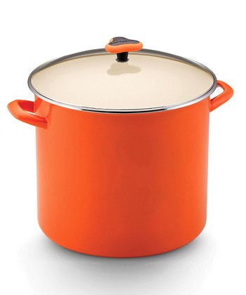 Orange 16-Qt. Covered Stockpot