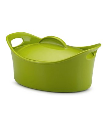 Green 4.25-Qt. Casseroval Covered Dish