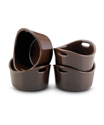 Chocolate Bubble & Brown Ramekin - Set of Four