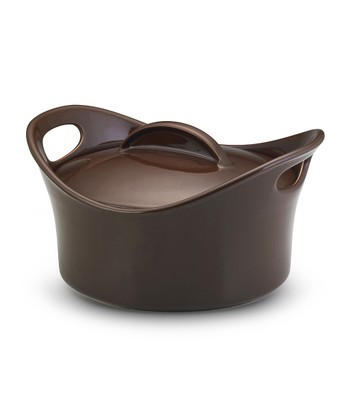 Chocolate 4.25-Qt. Casseroval Covered Baking Dish