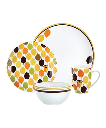 Little Hoot Four-Piece Dinnerware Set