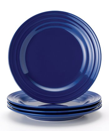 Blue Double Ridge Plate - Set of Four
