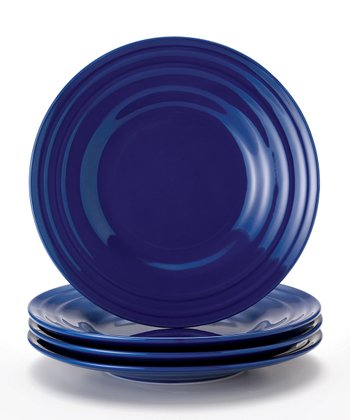 Blue Double Ridge Salad Plate - Set of Four