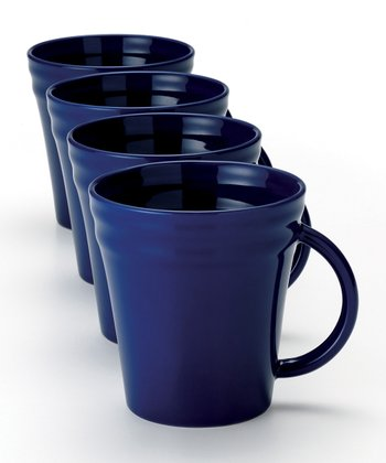 Blue Double Ridge Mug - Set of Four