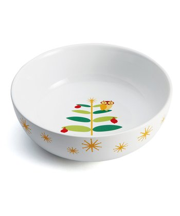 Winter Owl Serving Bowl