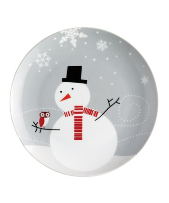 Owl & Snowman Salad Plate - Set of Four