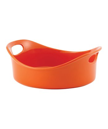Orange 3-Qt. Round Dish