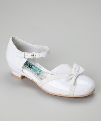 White Patent Brook Ankle-Strap Shoe