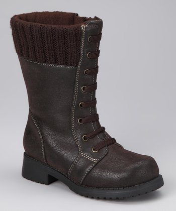 Rachel Shoes Brown Distressed Lil' Pisces Boot