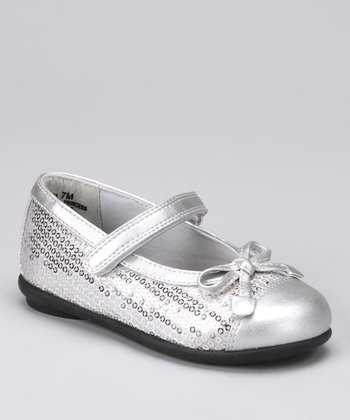 Silver Sequin Lil Princess Mary Jane