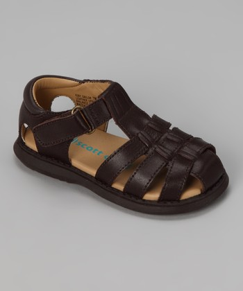 Brown Sailor Closed-Toe Sandal