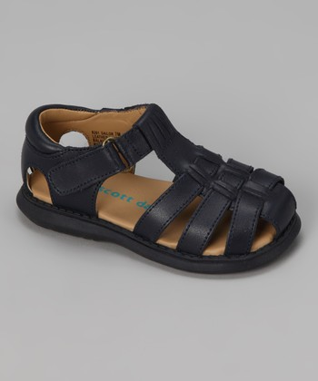 Navy Sailor Closed-Toe Sandal