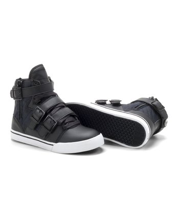 Black Straight Jacket Hi-Top Sneaker