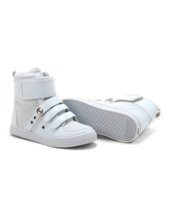 White Crocodile Hi-Top Sneaker