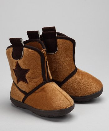 Tan Wrangler II Boot Slipper