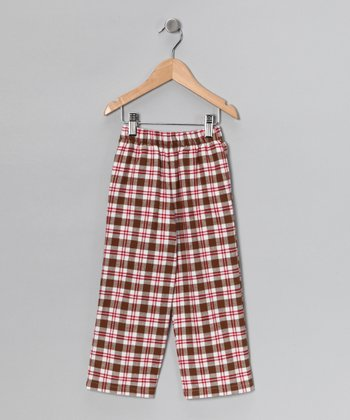 Brown Plaid Pants - Infant, Toddler & Boys