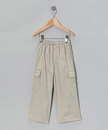 Khaki Twill Cargo Pants - Infant, Toddler & Boys