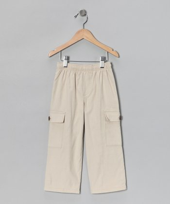 Khaki Wheat Corduroy Cargo Pants - Infant, Toddler & Boys