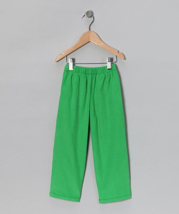 Kelly Green Twill Pants - Infant, Toddler & Boys