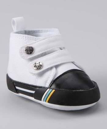White Double-Strap Hi-Top Shoe