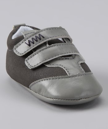 Rainbow Kids Gray Double-Strap Shoe