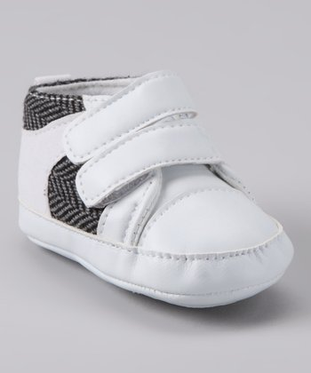 Rainbow Kids White Herringbone Double Strap Shoe