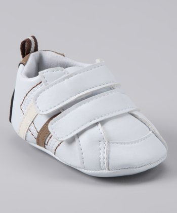 Rainbow Kids White Stripe Double-Strap Shoe